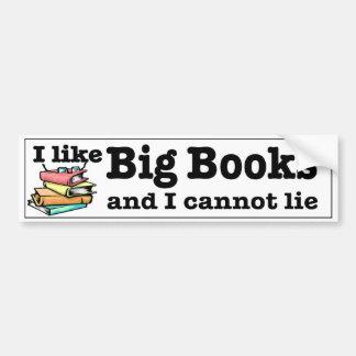 Tengo gusto de los libros grandes y no puedo pegatina para auto