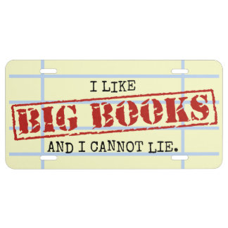 Tengo gusto de los libros grandes y no puedo placa de matrícula