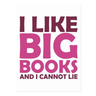 Tengo gusto de los libros grandes y no puedo postales
