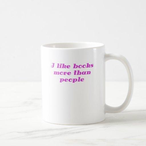 Tengo gusto de los libros más que gente tazas de café
