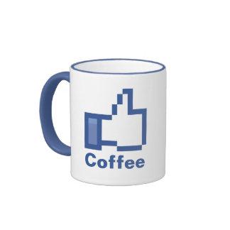 Tengo gusto de los pulgares del FB Facebook del Taza A Dos Colores