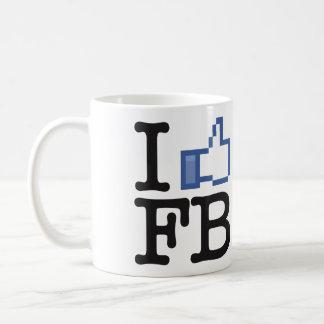 Tengo gusto de los pulgares del FB Facebook encima Taza De Café
