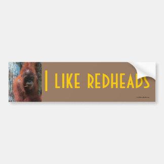 Tengo gusto de los Redheads - fauna Etiqueta De Parachoque