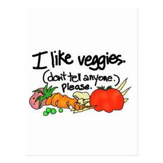 Tengo gusto de los Veggies Tarjeta Postal