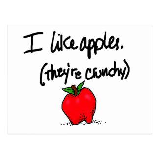 Tengo gusto de manzanas postal