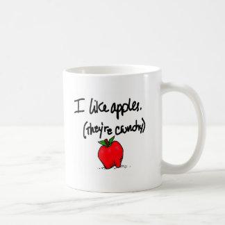 Tengo gusto de manzanas taza de café