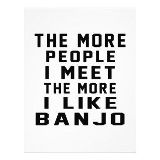 Tengo gusto de más banjo membretes personalizados