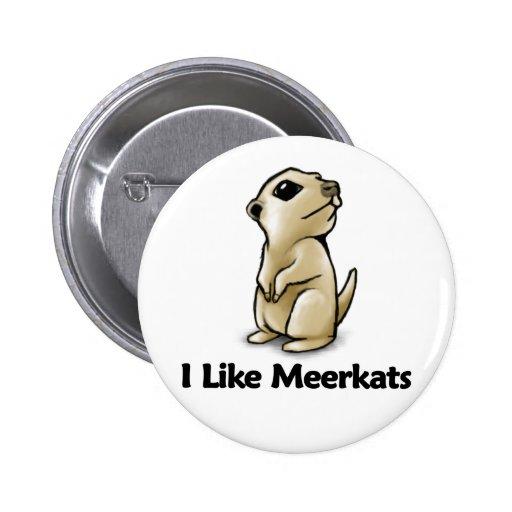 Tengo gusto de Meerkats Pin