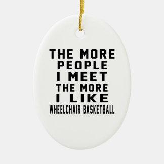 Tengo gusto de mi baloncesto de silla de ruedas adorno ovalado de cerámica