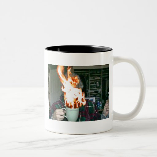 ¡Tengo gusto de mi café CALIENTE! Taza Dos Tonos
