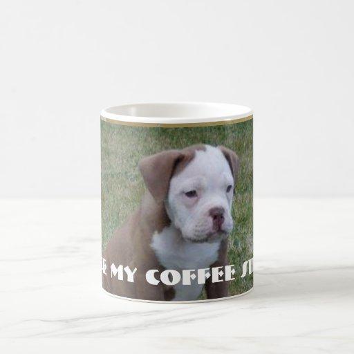 Tengo gusto de mi café fuerte tazas de café