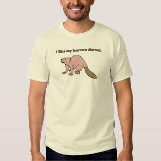 Tengo gusto de mi camiseta afeitada los castores remeras