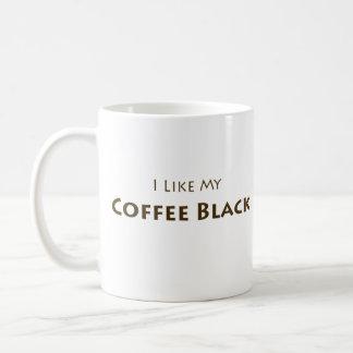 Tengo gusto de mi negro del café tazas de café
