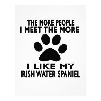 Tengo gusto de mi perro de aguas de agua irlandesa membrete