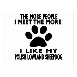 Tengo gusto de mi perro pastor polaco de la tierra postal
