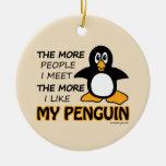 Tengo gusto de mi pingüino adorno de reyes
