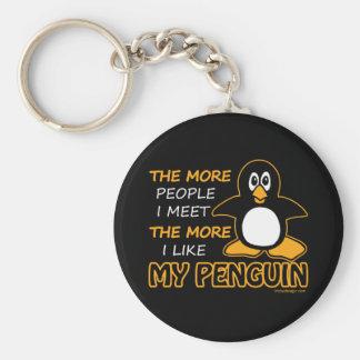 Tengo gusto de mi pingüino llavero redondo tipo pin