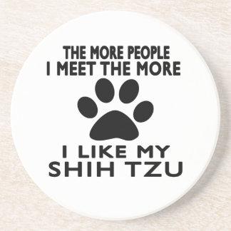 Tengo gusto de mi Shih Tzu. Posavasos Cerveza