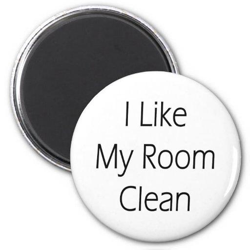 Tengo gusto de mi sitio limpio imán redondo 5 cm