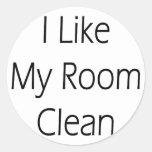 Tengo gusto de mi sitio limpio pegatina redonda
