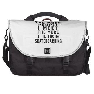 Tengo gusto de mi Skateboarding. Bolsas Para Portátil