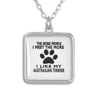 Tengo gusto de mi terrier australiano colgantes