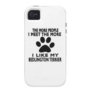 Tengo gusto de mi terrier de Bedlington iPhone 4 Carcasa