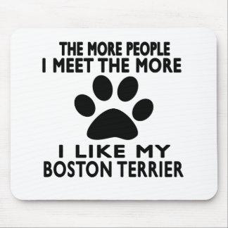 Tengo gusto de mi terrier de Boston Tapete De Ratones