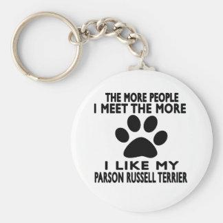 Tengo gusto de mi terrier de Russell del párroco Llavero