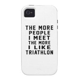 Tengo gusto de mi Triathlon. Vibe iPhone 4 Carcasas