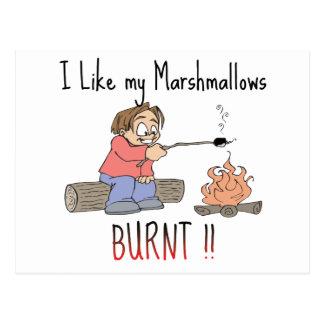 Tengo gusto de mis mashmallows quemados postal