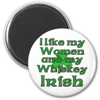Tengo gusto de mis mujeres y de mi irlandés del wh imán redondo 5 cm
