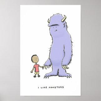 tengo gusto de monstruos póster