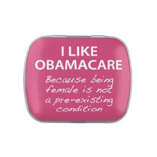 Tengo gusto de ObamaCare - para las mujeres Jarrones De Caramelos