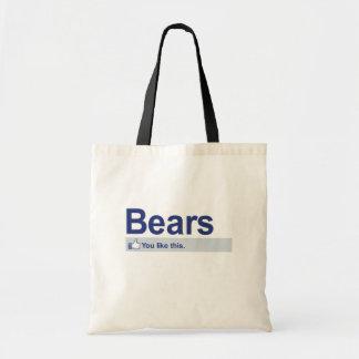 Tengo gusto de osos bolsa