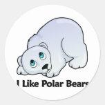 Tengo gusto de osos polares pegatina redonda