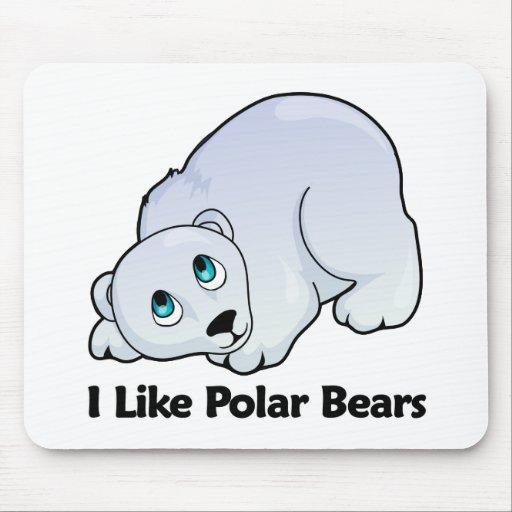 Tengo gusto de osos polares tapetes de ratones