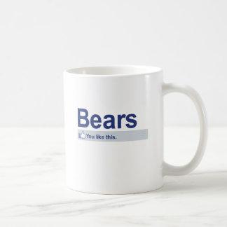 Tengo gusto de osos taza de café
