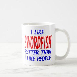 Tengo gusto de peces espadas mejores que tengo taza básica blanca