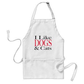 Tengo gusto de PERROS y de gatos Delantal