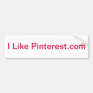 Tengo gusto de Pinterest.com Etiqueta De Parachoque