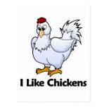 Tengo gusto de pollos tarjetas postales