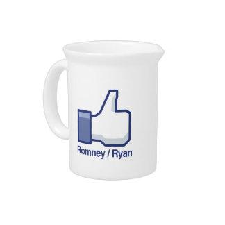 TENGO GUSTO de ROMNEY RYAN png Jarras Para Bebida