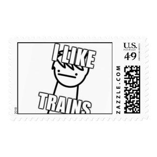 Tengo gusto de sellos de los trenes