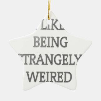 Tengo gusto de ser .png extraño extraño adorno navideño de cerámica en forma de estrella