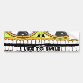 Tengo gusto de sonreír pegatina para auto