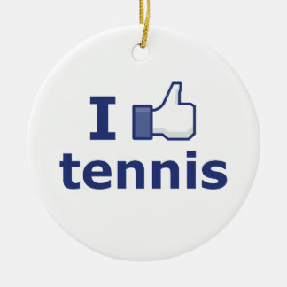 Tengo gusto de tenis adorno redondo de cerámica