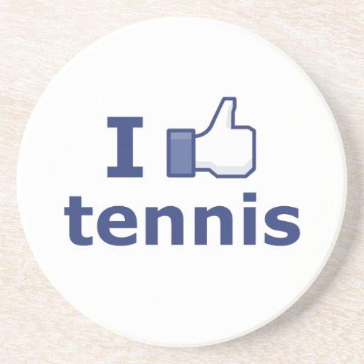 Tengo gusto de tenis posavasos personalizados