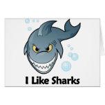 Tengo gusto de tiburones felicitaciones
