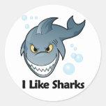 Tengo gusto de tiburones pegatinas redondas
